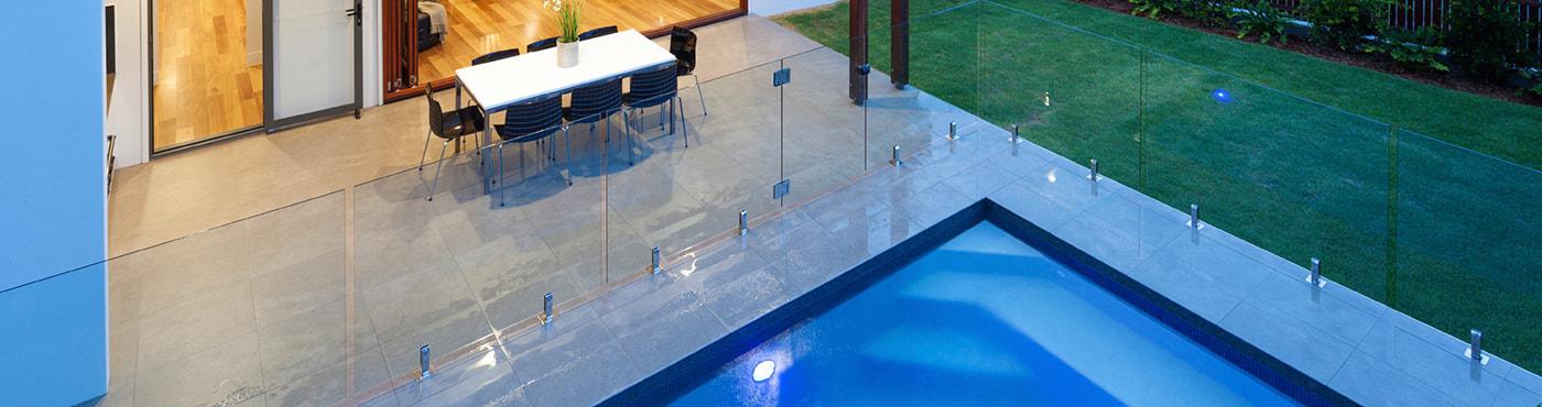 Glass Pool Fence frameless glass pool fencing | aquaview glass pool fences